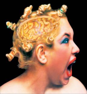 Křičící hlava, z cyklu Pohledy