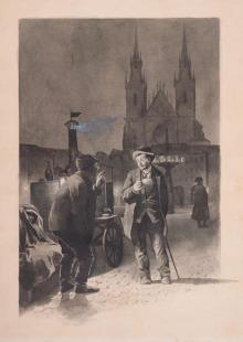 Výjev ze staré Prahy