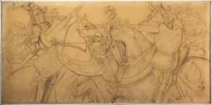 Rytířský turnaj na píseckém hradě r. 1479 (Dvořáčkův hotel v Písku)