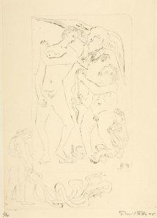 Herakles - list č. 2 - Mladičký Herakles zabil hady, které na něho poslala Héra