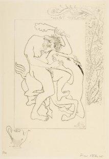 Herakles - list č. 5 - Usmrcení Diomédových koní pojídajících lidské maso II.