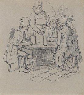 Ilustrace k povídce Chocholouška: Ze starých pamětí